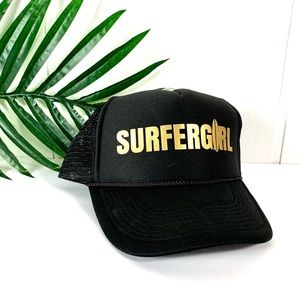 "OTTO Black ""Surfer Girl"" Snap Back Trucker Hat"